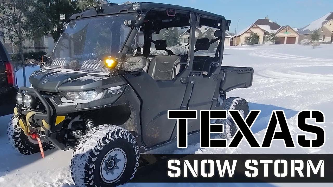 Texas Winter Storm 2021 | Pulling a RAM 1500 with the Can-Am!