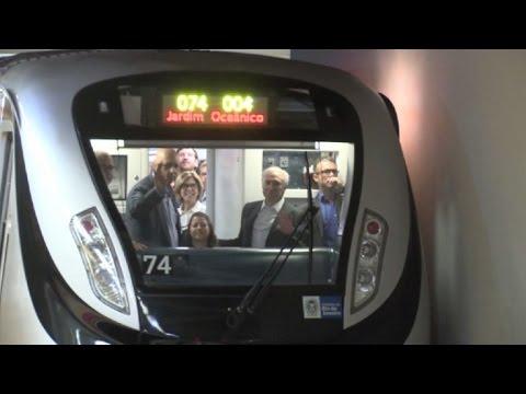 Inauguran el metro olímpico de Rio de Janeiro