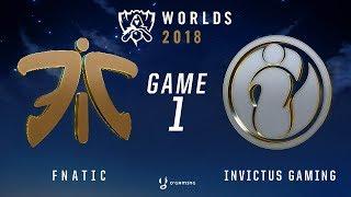 WORLDS 2018 - FINALE - FNC vs IG - Game 1