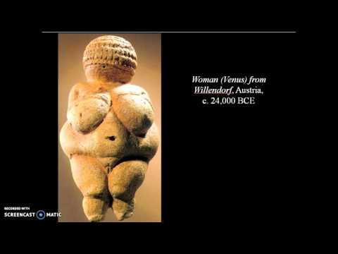 Prehistoric 2 women sculptures
