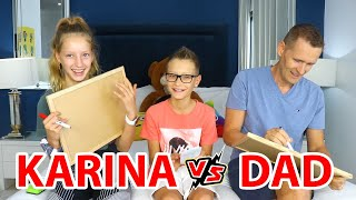 Who Knows Me Better, Karina vs Dad!!!
