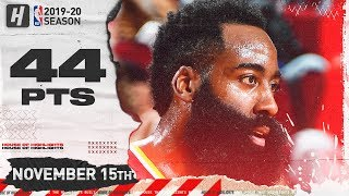 James Harden Full Highlights vs Pacers (2019.11.15) - 44 Pts, 5 Ast, 8 Reb!