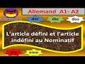 Sans difficultés: allemand - L'article défini et l'article indéfini au nominatif