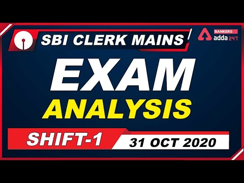SBI Clerk Mains Exam Analysis 2020 (31 October, Shift 1) | Exam Review & Asked Questions