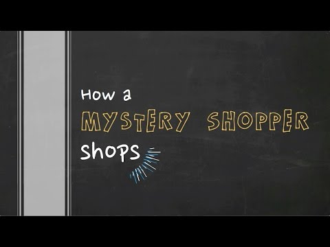 What A Mystery Shopper Does
