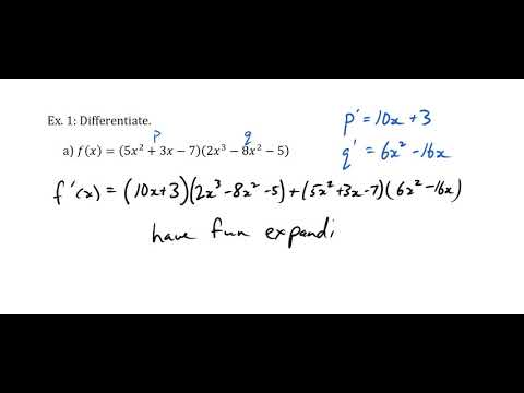 The Product Rule of Derivatives