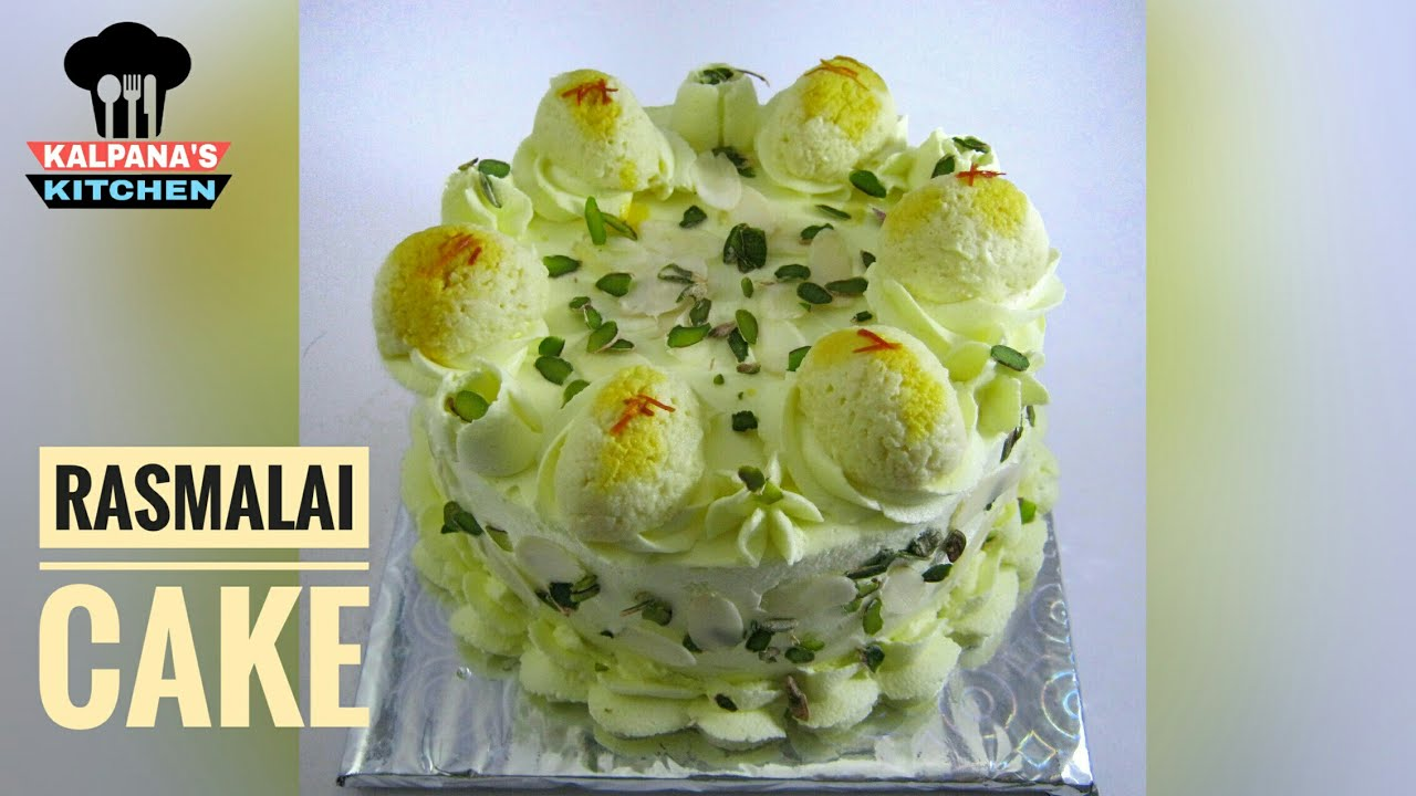Rasmalai cake   How to make eggless rasmalai cake at home ...