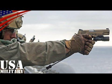 アメリカ海兵隊の射撃訓練・M4カービン&M45A1拳銃(コルト・ガバメント)