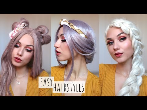 3-MINUTE HAIRSTYLES TO TRY! Ft. Feshfen wigs - 동영상