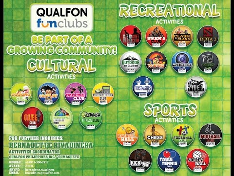 Qualfon Dumaguete's FUN CLUBS (fun@work)