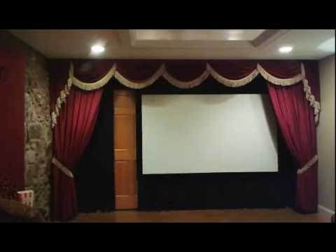 Motorize Your Drapery And Automate Home Theater Curtains YouTube. Home  Theater Stage Design. ...