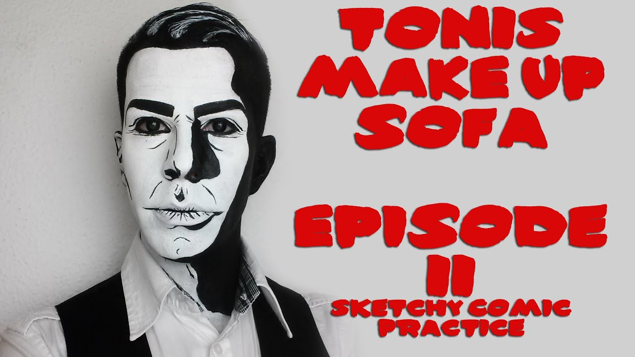 Download TONI'S MAKEUP SOFA  #02   Sketchy Comic Look Practice by Anthony CookMUA