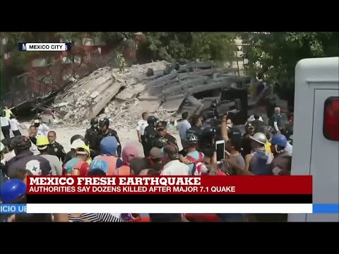 """Mexico Earthquake: """"Race to rescue those trapped in collapsed buildings"""""""