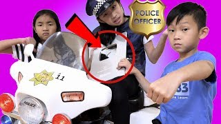 Pretend Play Police Where is my Youtube Play Button and Toys