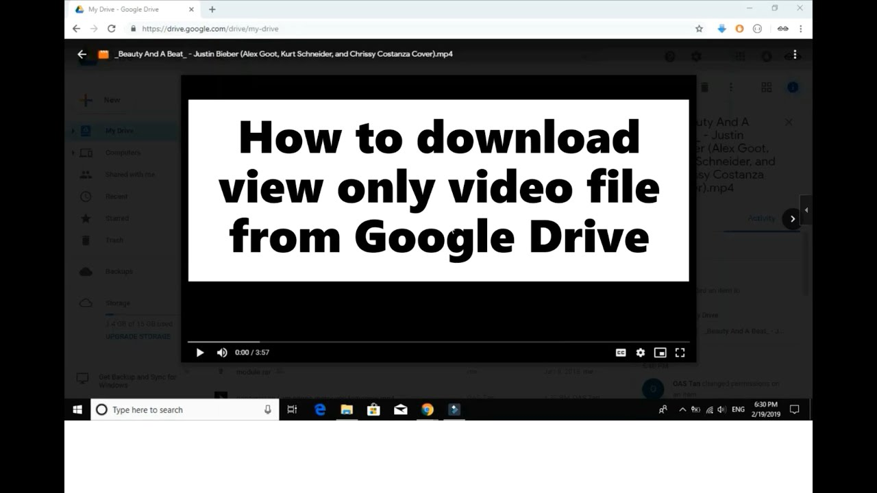 How to download view only video file from Google Drive 7
