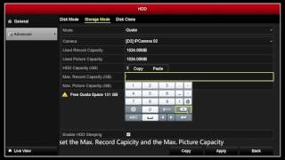 How to Configure HDD Quota
