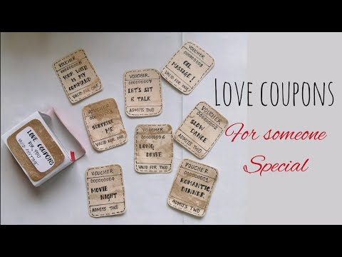 LOVE COUPONS | Anniversary |Valentine's Day Special | DIY| Simple Handmade craft | Art & craft| love