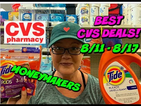 BEST CVS DEALS FOR THE WEEK OF (8/11 - 8/18) LOTS OF MONEYMAKER MAKEUP, CHEAP TIDE & MORE!