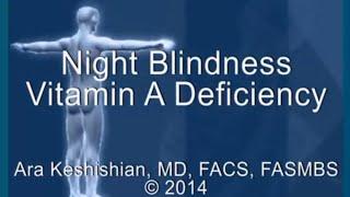 Night Blindness - Vitamin A Deficiency