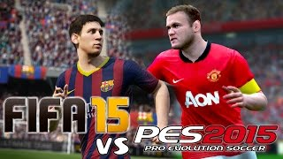 FIFA 15 vs PES 2015 | Demo Gameplay + Info | PART 2
