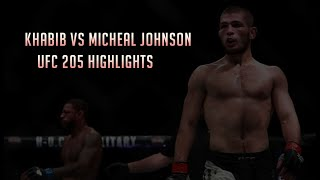 Khabib Nurmagomedov Vs Micheal Johnson (UFC 205 Highlights)