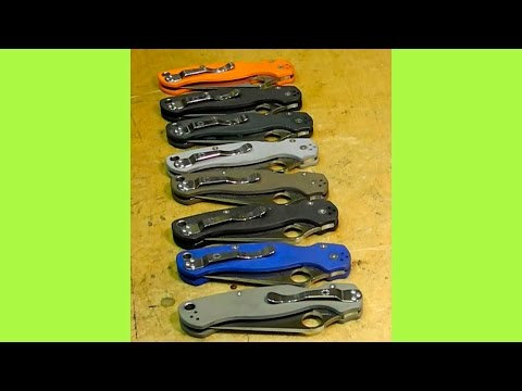 Тест 8 ножей Spyderco Paramilitary 2 - часть 1