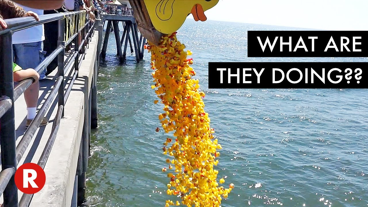 Dumping Rubber Ducks In The Ocean Youtube
