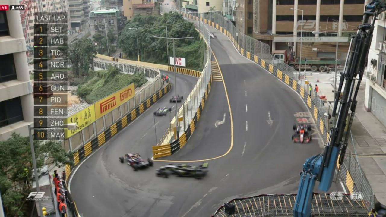 Macau Grand Prix 2017 >> Incredible Finish 2017 Macau Grand Prix F3 Race