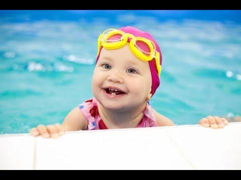 Babies love swimming underwater