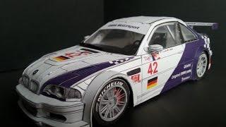 BMW M3 GTR model kartonowy