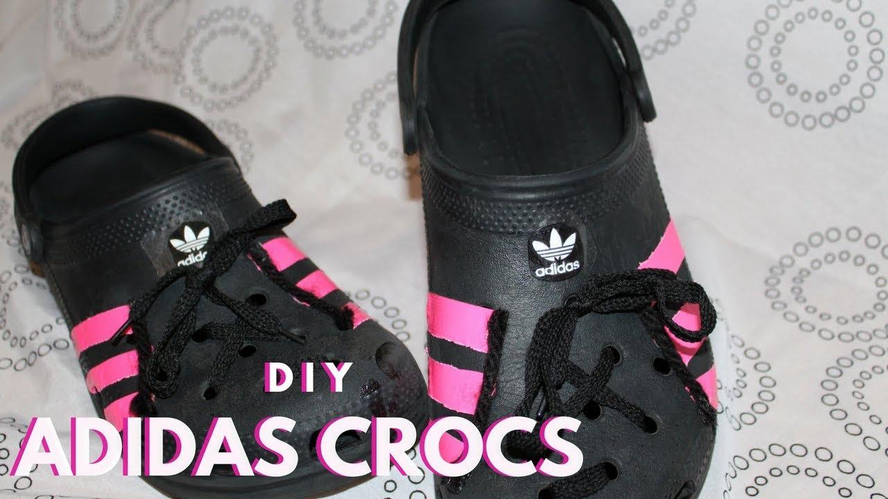 DIY ADIDAS CROCS | croc doc - YouTube