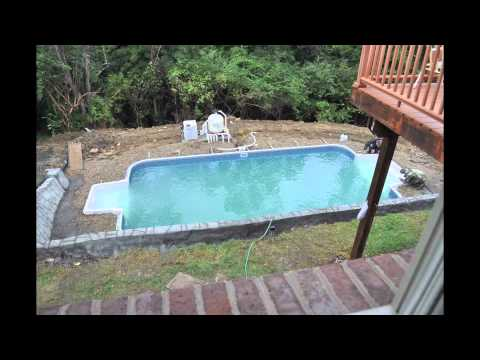 Inground pool installation youtube inground pool installation solutioingenieria Image collections