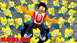 ROBLOX - ESCAPE DESPICABLE ME 3 MINIONS OBBY!! - DONUT FALLS INTO A PIT OF EVIL MINIONS