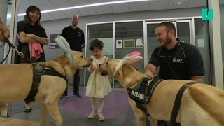 "Police Dogs Help Kids Through A ""Ruff"" Time"