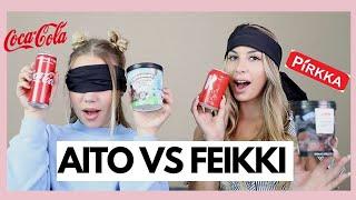 AITO VS FEIKKI RUOKAHAASTE W/DERYA | Nelli Orell ♡