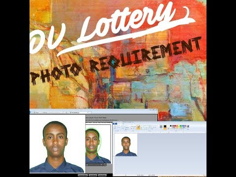 How To Resize DV Lottery Photo Passport 2021