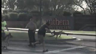 See Man Frantically Try To Fling Off Rabid Bobcat