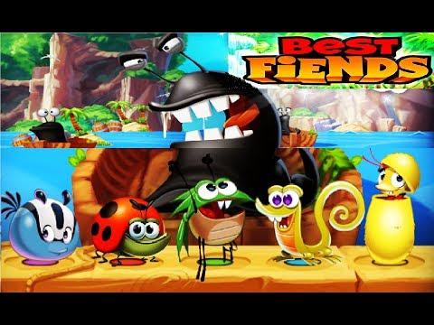 Best Fiends #2 Игровой мультик для детей о жуках воюющих с слизнями , веселая детская игра