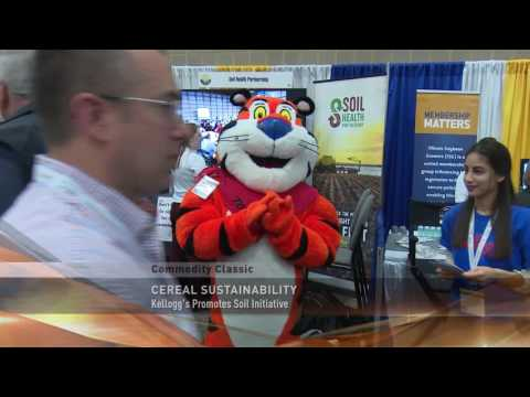 Tony the Tiger with the Soil Health Partnership as featured on AgDay