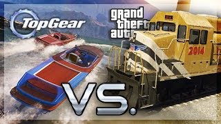 GTA 5 Online - (Top Gear Edition) Boat vs Train