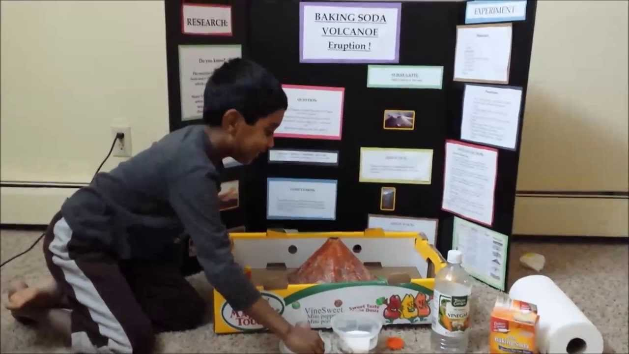 Suhas science project - Volcano eruption with baking soda and ...