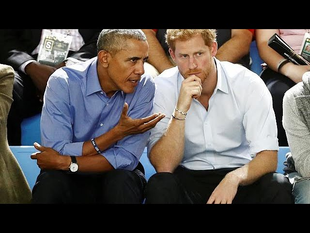 Leaders should combat social media misuse, Obama tells Prince Harry