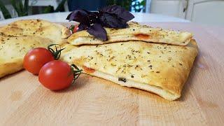 ПИЦЦА КАЛЬЦОНЕ. Сочетание базилика, чеснока, оливкового масла и сыра творят чудеса/ Рецепты Джулии