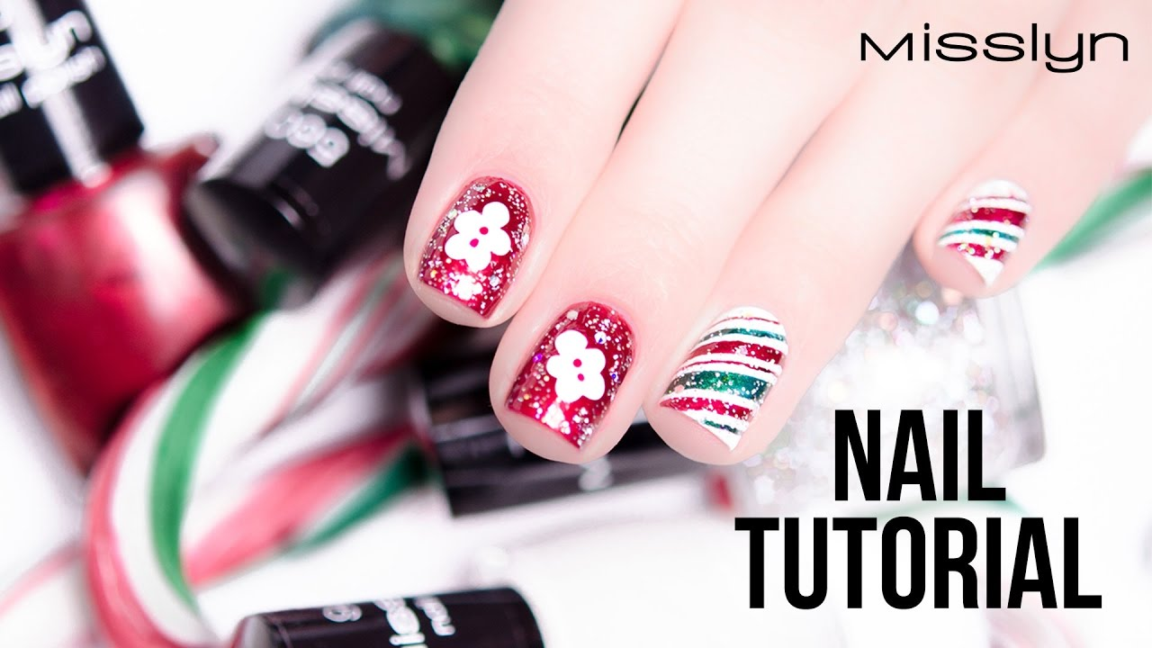 Misslyn Nail Tutorial Merry Christmas Nail Design Youtube