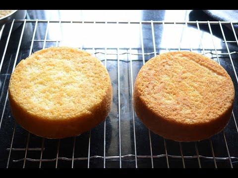 How To Make The Best Eggless Vanilla Cake (Oil Based) For Cream Cakes
