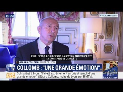 """Explosion à Lyon: Gérard Collomb exprime sa """"surprise"""" et son """"émotion"""" sur BFMTV"""