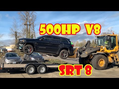 I BOUGHT MY WIFE HER DREAM CAR JEEP SRT8 BUT ITS WRECKED SO LETS REBUILD IT