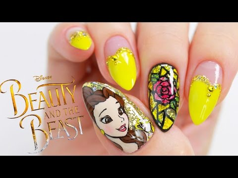 Disney Princess Belle // 'Beauty And The Beast' Nail Tutorial thumbnail