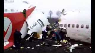 HD amateur video recorded just after the crash of Turkish Airlines flight 1951