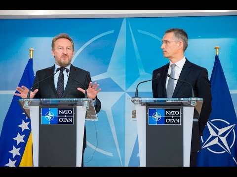 NATO Secretary General with Chairman of the Presidency of Bosnia and Herzegovina, 09 NOV 2016